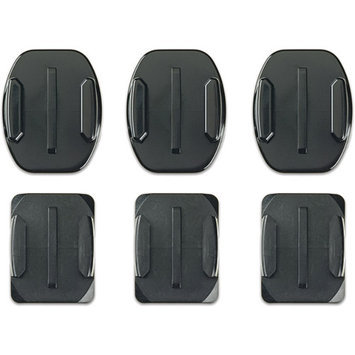 GoPro Flat and Curved Adhesive Mounts for HERO Cameras - Black (AACFT-