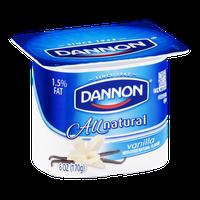 Dannon All Natural Vanilla Lowfat Yogurt