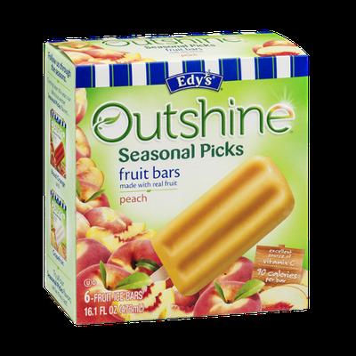 Edy's Outshine Seasonal Picks Fruit Ice Bars Peach - 6 CT