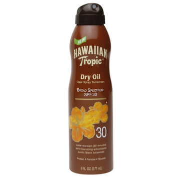 Hawaiian Tropic Dry Oil Clear Spray Sunscreen SPF 30, 6 oz