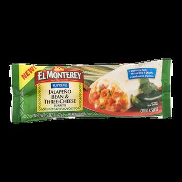 El Monterey Burrito Jalapeno Bean & Three-Cheese