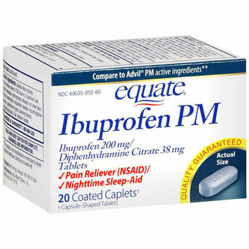 Equate Ibuprofen PM Caplets Pain Reliever/Sleep Aid 20 Ct