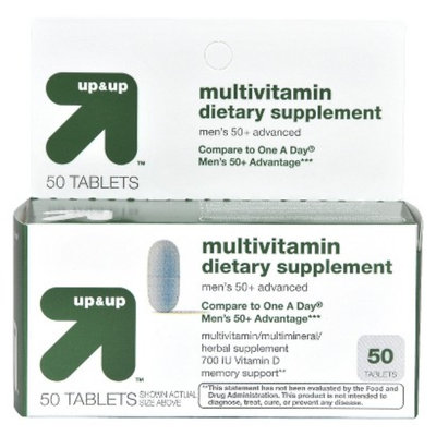 Up & Up Men's 50+ Multivitamin Tablets 50-pk.