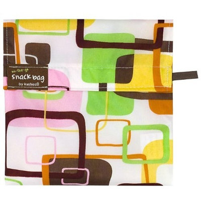 Kushies On The Go Snack Bag - Pink Square - Large