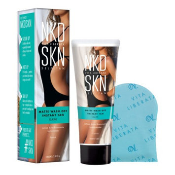 Vita Liberata NKD SKN Matte Wash Off Instant Tan, Dark, 3.38 fl oz
