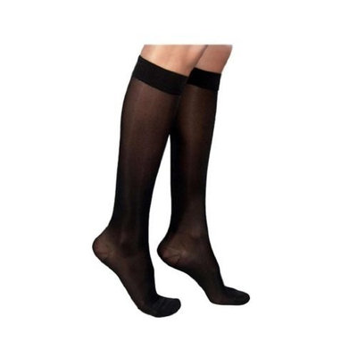 Sigvaris 860 Select Comfort Series 20-30mmHg Women's Closed Toe Knee High Sock Size: L4, Color: Black Mist 14