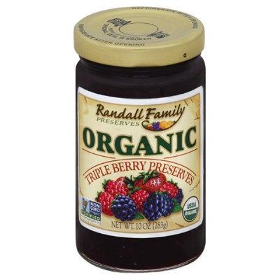 Randall Family Preserves 10 oz. Organic Triple Berry Preserves, Case Of 6
