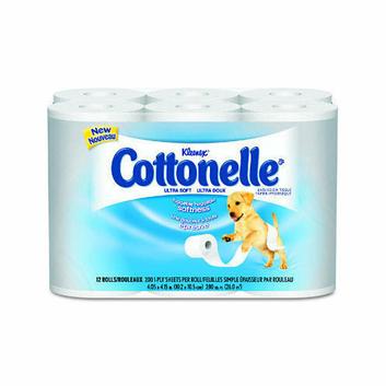 Kimberly-Clark Kleenex Cottonelle Ultra Soft Bath Tissues in White