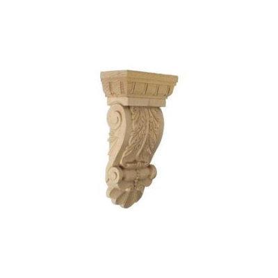 Ekena Millwork 5.125-in x 9.75-in Alder Acanthus Wood Corbel