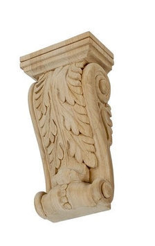 American Pro Decor 5APD10527 Large Carved Wood Corbel