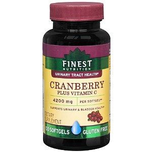 Finest Nutrition Cranberry Plus Vit C Softgels 100s