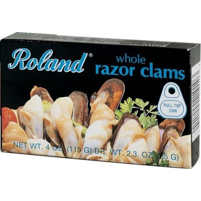 Roland Fancy Razor Clams From Chile, 4-Ounce Can (Pack of 6)