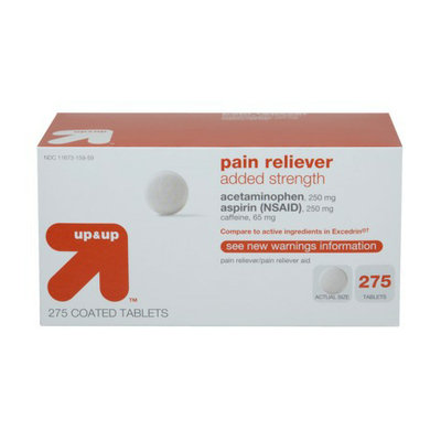 Up & Up Added-Strength Pain Reliever Coated Tablet 275-pk.