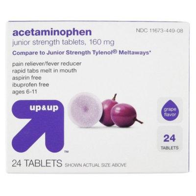 up & up Acetaminophen Junior Strength Grape Meltaway Tablets 24-pk.