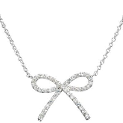 Emitations Becca's CZ Bow Necklace