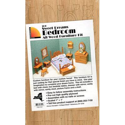 Greenleaf 7201 Bedroom Dollhouse Furniture Kit
