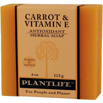 Plantlife Carrot & Vitamin E 100% Pure & Natural Aromatherapy Herbal Soap- 4 oz (113g)