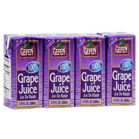 Gefen Grape Juice Box Drink 100% Real Grape Juice 1 Pack of 4 Boxes