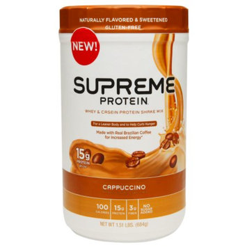 Supreme Protein Whey & Casein Protein Shake Mix Cappuccino