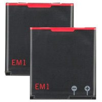 Replacement Battery For Blackberry EM-1 (2 Pack)