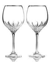 Vera Wang Wedgwood Set of 2 Duchesse Platinum Goblets