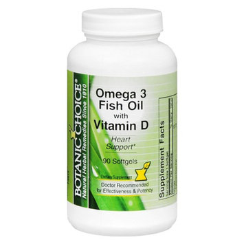 Botanic Choice Omega 3 Fish Oil with Vitamin D Softgels