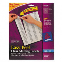 Avery Easy Peel Clear Mailing Labels - Kmart.com