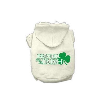 Mirage Pet Products Proud to be Irish Screen Print Pet Hoodies Cream Size XXL (18)