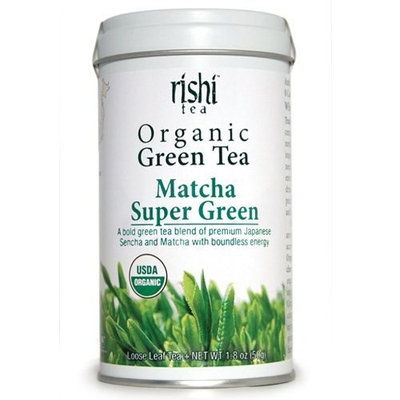 Rishi Tea Organic Green Tea' Matcha Super Green, 1.76-Ounce