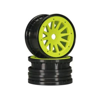 Matrix 1726 12-Spoke Comp Beadlock Zero Offset Yellow 17mm (2)