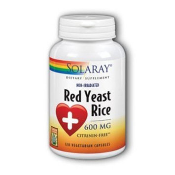 Red Yeast Rice 600mg Solaray 120 VCaps