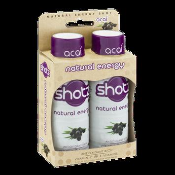 Shotz Natural Energy Vitamin Supplement Acai - 2 CT