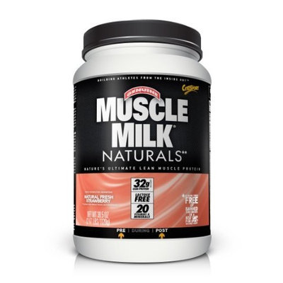 CytoSport Muscle Milk Naturals Lean Muscle Protein Powder, Natural Real Chocolate, 2.47 Pound