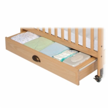 Child Craft Storage Drawer for Professional Child Care Compact Crib, Natural, 1 ea