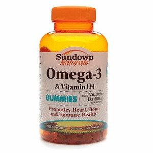 Sundown Naturals Omega-3 & Vitamin D3 Gummies