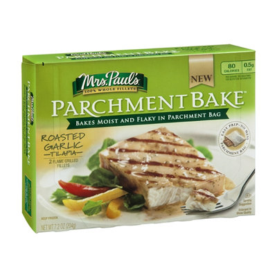 Mrs. Paul's Parchment Bake Tilapia Fillets Roasted Garlic - 2 CT