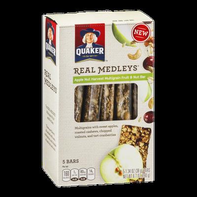 Quaker® Real Medleys Apple Nut Harvest Multigrain Fruit & Nut Bar