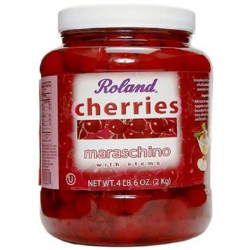 Roland Maraschino Cherries W/Stems, 4-Pounds