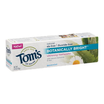 Tom's of Maine Botanically Bright Whitening Toothpaste Spearmint