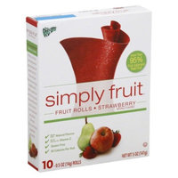 Fruit Roll-Ups Simply Fruit Strawberry Fruit Rolls 10 ct