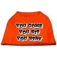Ahi You Come You Sit You Stay Screen Print Shirts Orange XS (8)