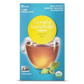 Simply Balanced Organic Mint Green Tea 20 ct