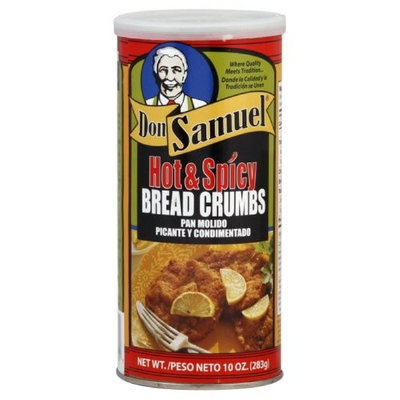 Don Samuel Hot & Spicy Bread Crumbs, 10-Ounce