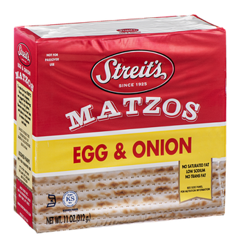 Streit's Matzos Egg & Onion