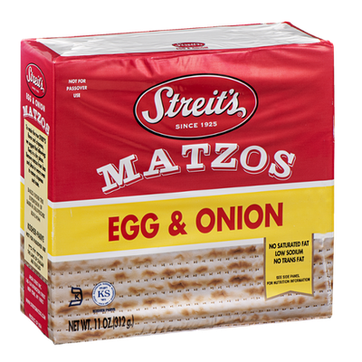 Streit's Matzos Egg & Onion