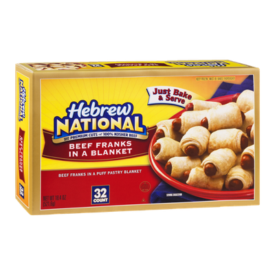 Hebrew National Beef Franks in a Blanket - 32 CT
