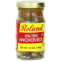 Roland Salted Anchovies, 4.2-Ounce Jars (Pack of 6)