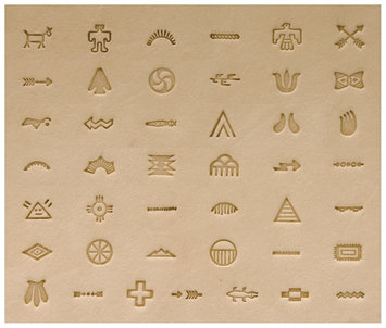 Leather Factory Native American Stamp Set-Symbol