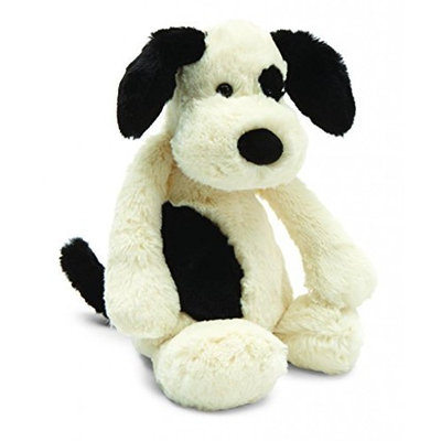 Jellycat Bashful Black & Cream Puppy - Medium