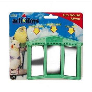 JW Pet Company Activitoys Fun House Mirror Bird Toy, Colors may Vary